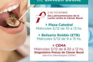 Comienza la campaña de concientización de cáncer bucal