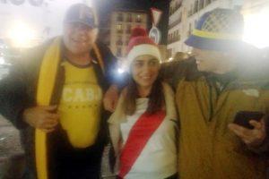 Marplatenses entre los miles de argentinos que llegaron a Madrid por el partido