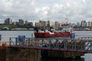 Terminó la obra complementaria del dragado en Mar del Plata