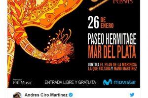 Ciro anunció que cantará gratis en Mar del Plata