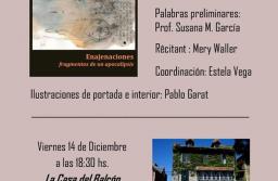 """La poeta Stella Alvarado presenta su poemario """"Enajenaciones: fragmentos de un apocalipsis"""""""
