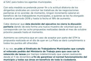 Arroyo otorgó aumento del 14% a Municipales para el mes de diciembre, con impacto en el aguinaldo