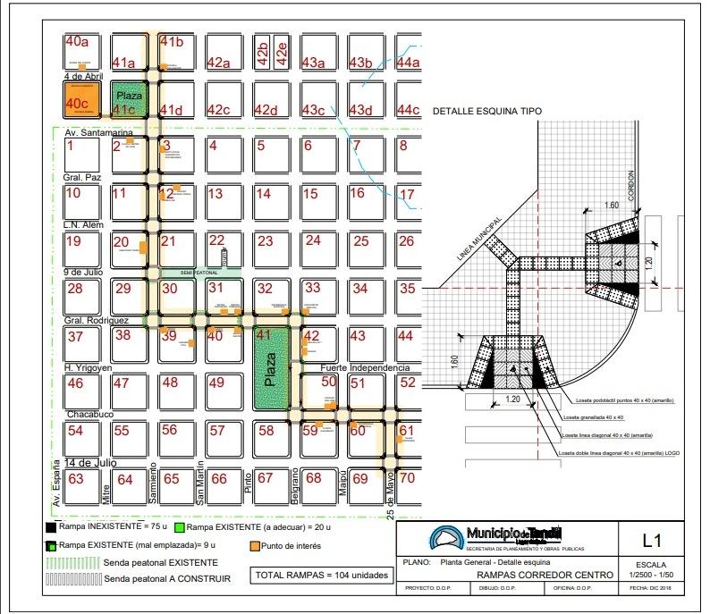 Tandil: El Municipio construirá rampas para personas con movilidad reducida en diferentes esquinas de la ciudad