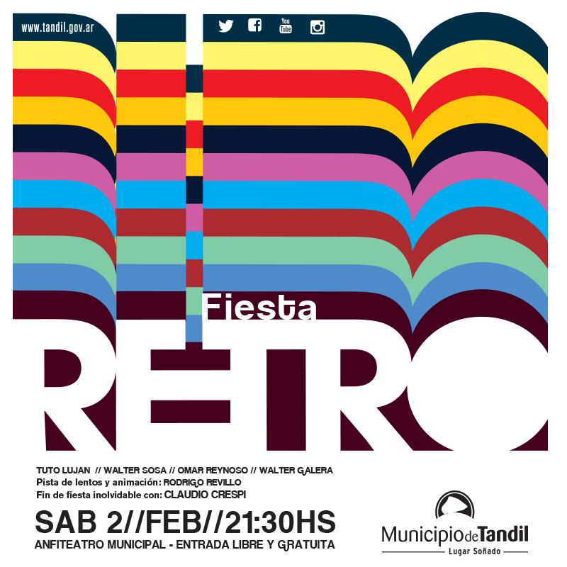 TANDIL: Este sábado desde las 21.30 en el Anfiteatro se realizará una nueva gran Fiesta Retro