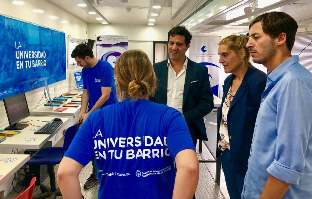 Abad y Baragiola visitaron el programa Universidad en tu barrio
