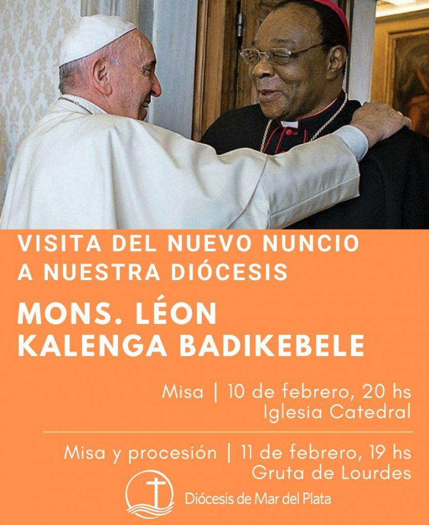 El representante del papa Francisco en la Argentina vendrá a Mar del Plata