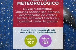 Emiten Alerta Meteorológico por lluvias y tormentas