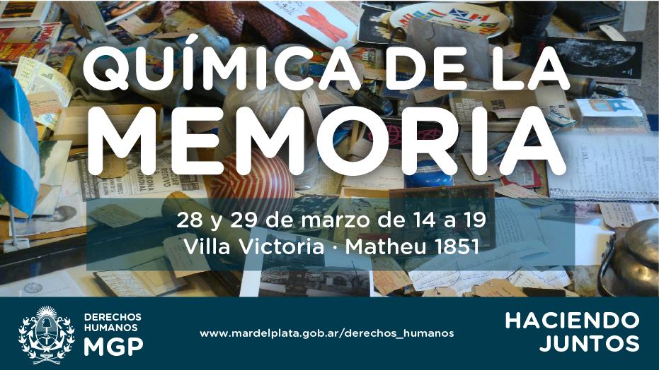 """Organizados por la Dirección Municipal de Derechos Humanos:Llegan a Mar del Plata los talleres vivenciales """"Química de la Memoria"""""""