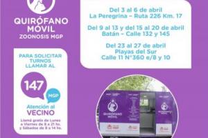 El Quirófano móvil para mascotas ya tiene su cronograma de abril