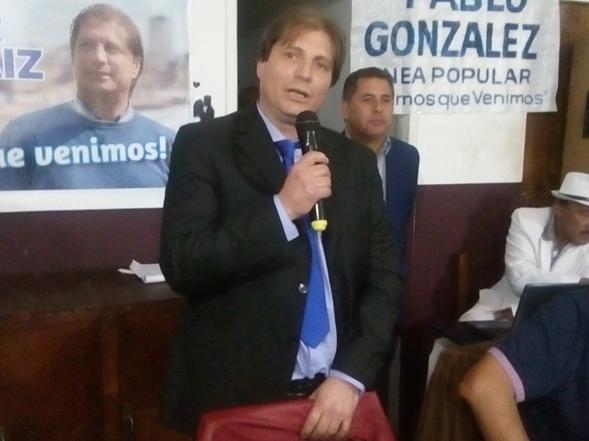 """César Moraiz: """"Proponemos crear un banco municipal para realizar las obras postergadas"""""""