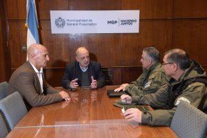 Mesa de trabajo de Arroyo con las autoridades de Gendarmería Nacional Argentina