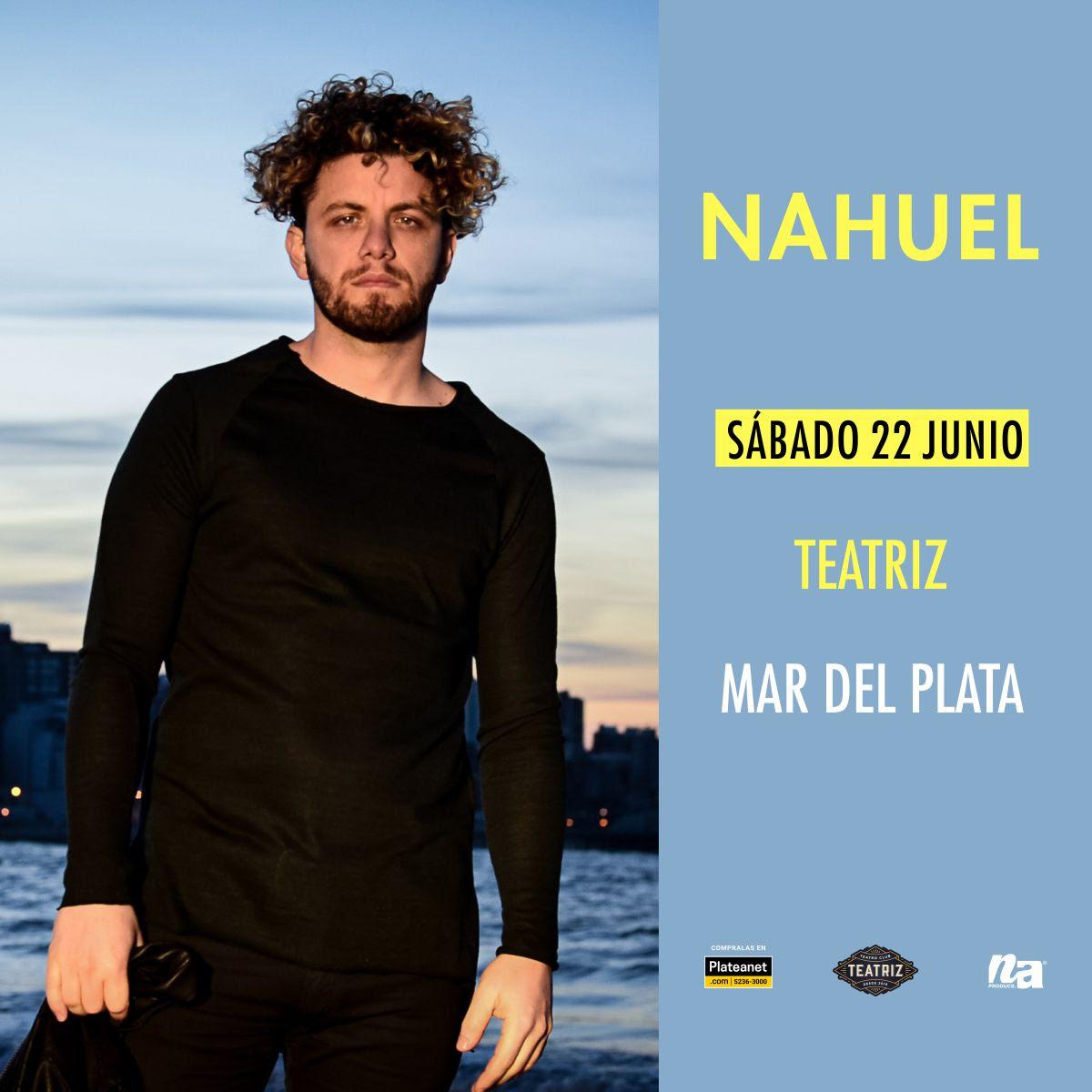 El artista marplatense Nahuel se presenta el próximo 22 de junio en Teatriz