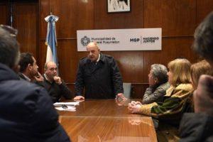 El Intendente Arroyo recibió a comerciantes de los alrededores del Municipio