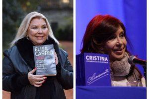 Cristina Kirchner y Elisa Carrió presentaron sus libros entre ironías de campaña