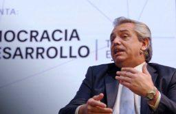 Alberto Fernández volvió a cuestionar el cepo y ratificó que «Argentina no tiene posibilidad de caer en default»
