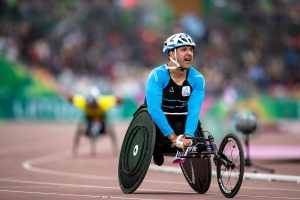 Lima, Saturday August 24, 2019  -Alejandro Maldonado from Argentina after competes in 5000m T54 Para Athletics at Villa Deportiva Nacional - VIDENA in Parapan American Games Lima 2019.  Copyright  Gabriel Heusi / Lima 2019   Mandatory credits: Lima 2019 ** NO SALES ** NO ARCHIVES **