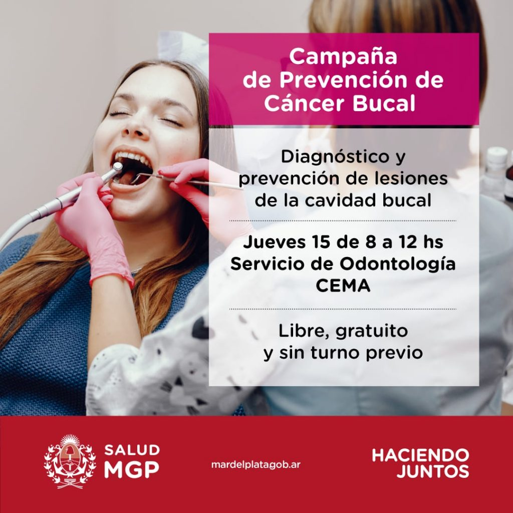 Este jueves se realiza una nueva campaña de prevención del cáncer bucal