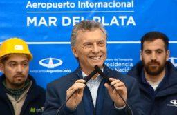 """Macri recorrió las obras de remodelación en el Aeropuerto: """"Ésto generará trabajo y será un antes y un después"""""""