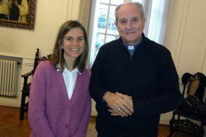 Raverta junto a Monseñor Lugones