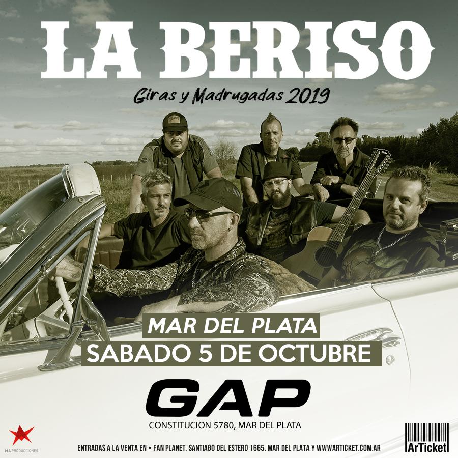 La Beriso presenta en GAP  «Giras y Madrugadas»