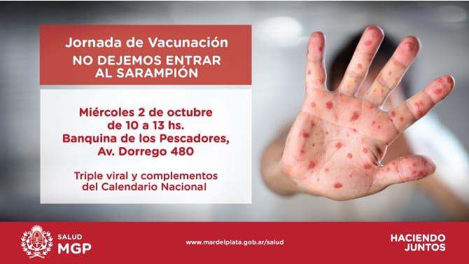 Jornada de vacunación contra el sarampión en el Puerto