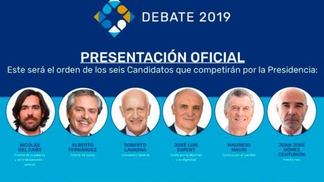 Primer Debate presidencial: horario, TV y lugar