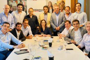 Montenegro presente en la reunión de Vidal con la mesa provincial del PRO