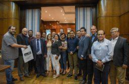 Arroyo recibió a integrantes de la Asociación Internacional de Periodistas Deportivos