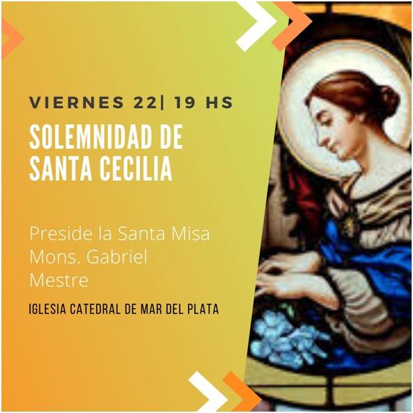 El viernes se celebra aSantaCecilia, patrona de la ciudad
