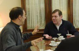 El intendente Montenegro se reunió con el Obispo Mestre
