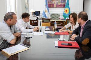 Reunión entre Kicillof y los ministros Frederic y Berni para coordinar la agenda de seguridad