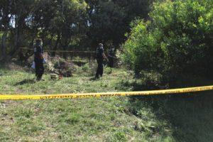 En este preciso lugar en la Ruta 11 - km. 534 se hallaba enterrado el cuerpo de Claudia Repetto, al que se pudo acceder luego de la declaración de Gustavo Rodríguez.