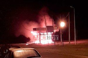 Violencia en Movediza: incendiaron la casilla de vigilancia de la policía