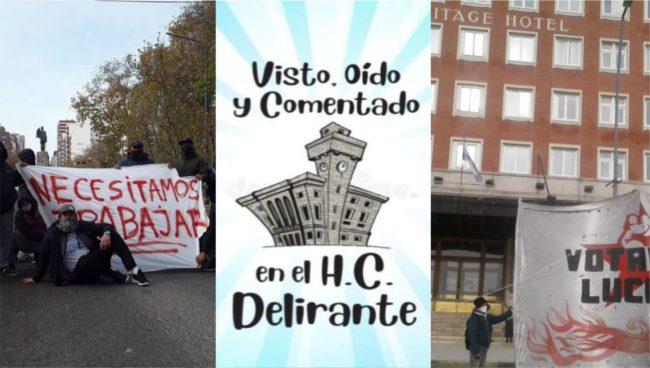 Cambia la normalidad: protesta y reclamos ante el COM y el Hotel Hermitage