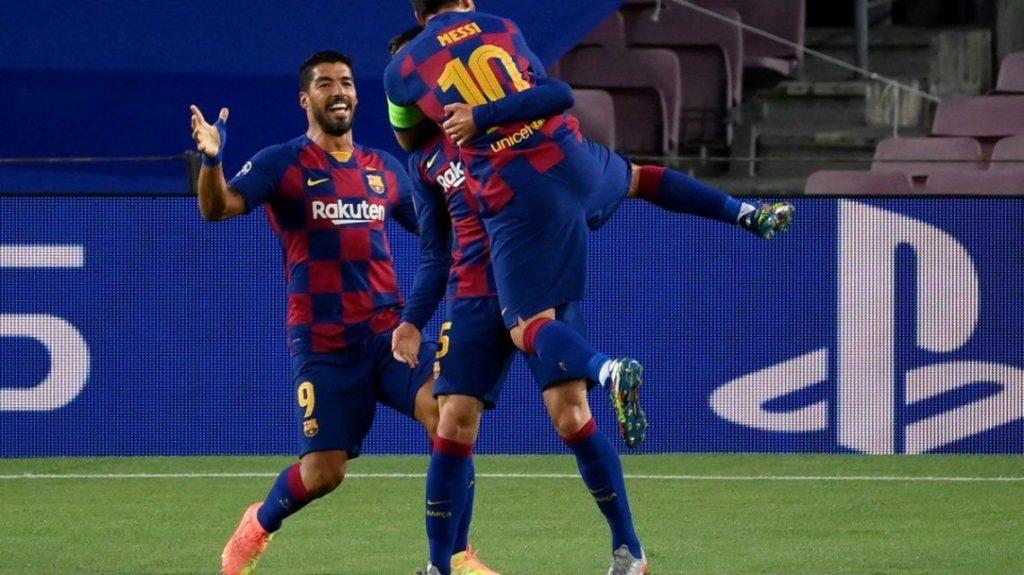 Con Messi como figura, el Barcelona venció Napoli y avanzó a los cuartos de final de la Champions League