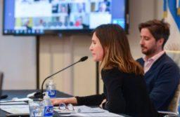 Fernanda Raverta ante la Comisión de Presupuesto de la Cámara de Diputados.