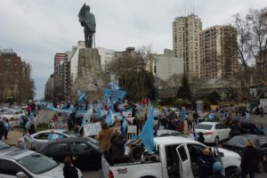 El banderazo contra el gobierno también en Mar del Plata