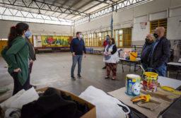 Montenegro supervisó trabajos de mantenimiento y refacción en la Escuela Primaria 5 de San Patricio