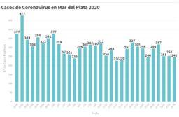 246 casos nuevos de coronavirus y 225 personas recuperadas en Mar del Plata