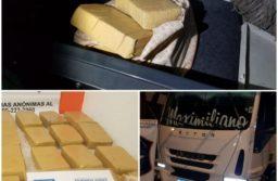 Azul: Secuestran 14 panes de marihuana en un camión