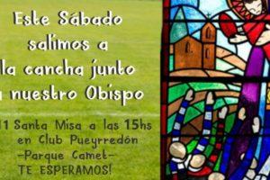 Gabriel Mestre brindará una misa al aire libre en el Club Pueyrredon