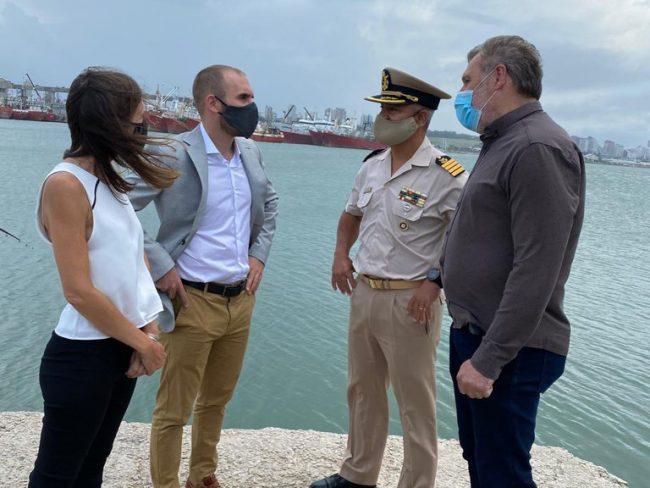 Guzmán y Fernanda Raverta, anunciaron la ampliación del puerto de Mar del Plata